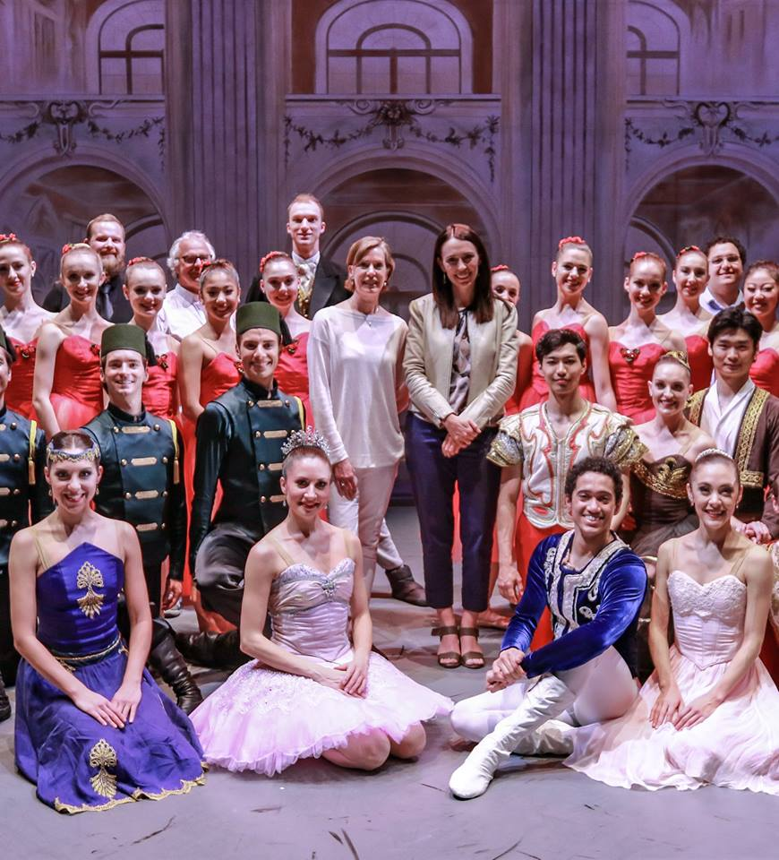 Prime Minister, Jacinda Adern at the Royal New Zealand Ballet Nutcracker